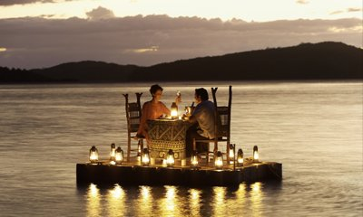 Turtle Island Fiji romantic dine out
