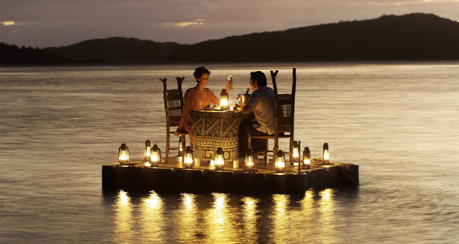 Turtle Island Fiji Romantic Dining